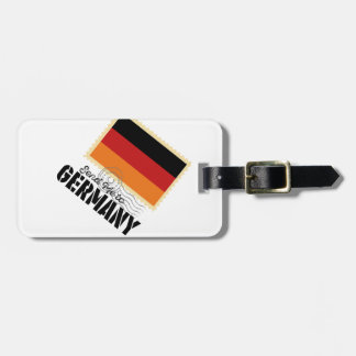 Classic Germany Flag Send Me to Luggage Tag