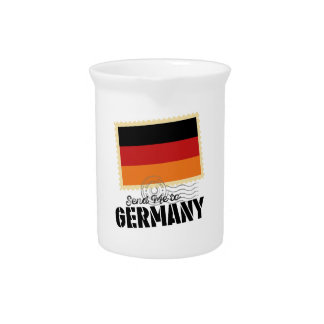 Classic Germany Flag Send Me to Pitcher