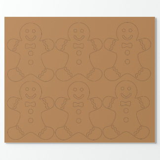 Classic Gingerbread Christmas Wrapping Paper