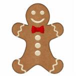 Classic Gingerbread Man Holiday Ornament Photo Cutout