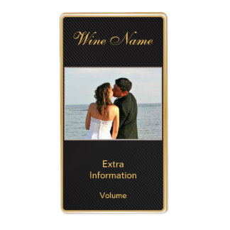Classic Gold Black Wine Label With Kisses Shipping Label