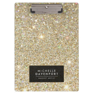 Classic Gold Glitter Personalized Clipboard