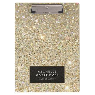 Classic Gold Glitter Personalized Clipboards