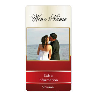 Classic Gold Red Wine Label With Kisses Shipping Label
