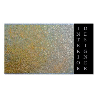 Classic Gold Silver Shiny Stamped Metal Effect Pack Of Standard Business Cards