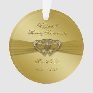 Classic Golden 50th Anniversary Acrylic Ornament