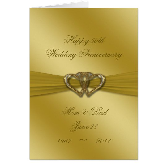 Classic Golden 50th Wedding Anniversary Card
