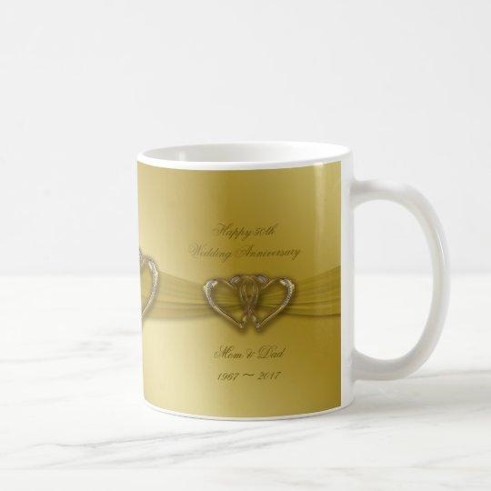 Classic Golden 50th Wedding Anniversary Coffee Mug