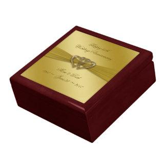 Classic Golden 50th Wedding Anniversary Gift Box