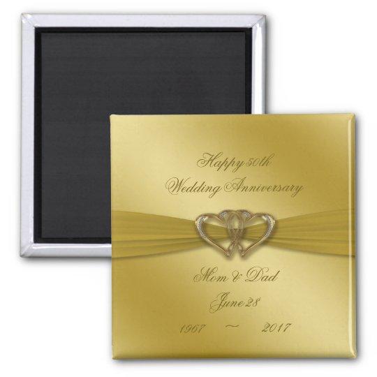 Classic Golden 50th Wedding Anniversary Magnet