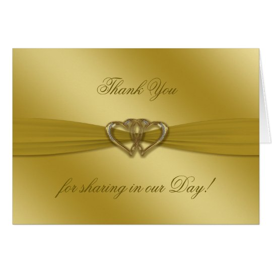 Classic Golden 50th Wedding Anniversary Note Card