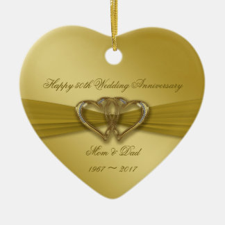 Classic Golden 50th Wedding Anniversary Ornament