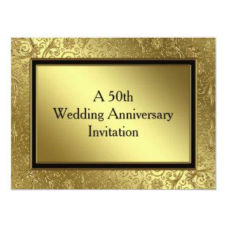 Classic Golden Wedding Anniversary 6.5x8.75 Invite