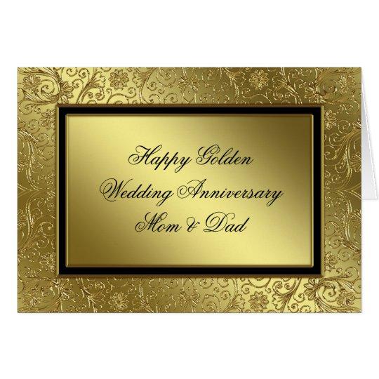 Classic Golden Wedding Anniversary Card