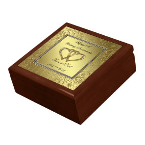 Classic Golden Wedding Anniversary Gift Box