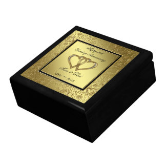 Classic Golden Wedding Anniversary Gift Box