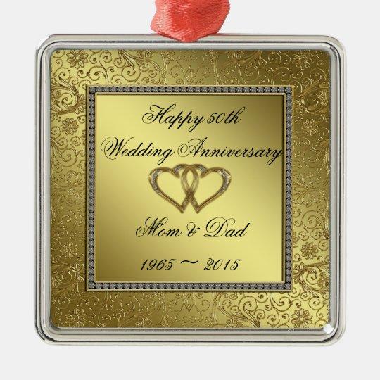 Classic Golden Wedding Anniversary Ornament