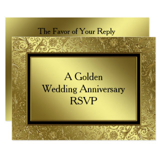 50th wedding anniversary rsvp cards 50th wedding