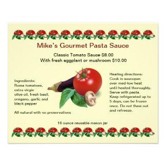 "Classic Gourmet Pasta Sauce 4.5"" x 5.6"" Flyer"