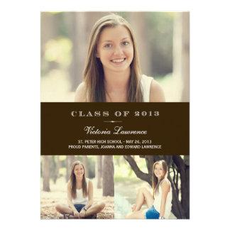 Classic Grad Graduation Invitation Announcement Personalized Invitations