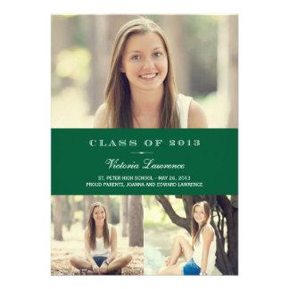Classic Grad Graduation Invitation Announcement Personalized Invites