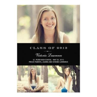 Classic Grad Graduation Invitation Announcement Personalized Announcements