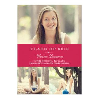 Classic Grad Graduation Invitation Announcement Card