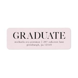 Classic Graduate Mailing Label