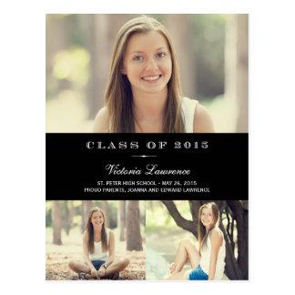 Classic Graduation Announcement Editable Color Postcard