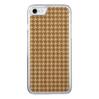 Classic Gray and White Houndstooth Pattern Carved iPhone 8/7 Case