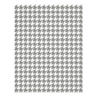 Classic Gray and White Houndstooth Pattern Flyers