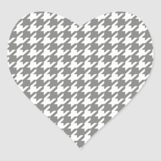 Classic Gray and White Houndstooth Pattern Sticker