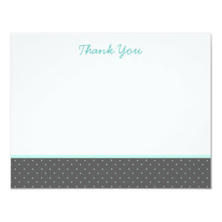 Classic Gray Polka Dot Thank You Note Cards
