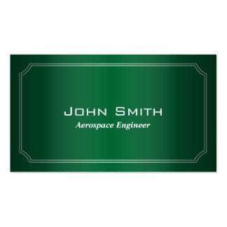 Classic Green Aerospace Engineer Business Card