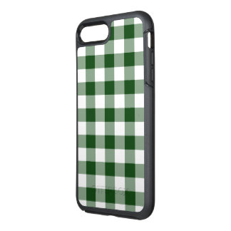 Classic Green and White Gingham Plaid OtterBox Symmetry iPhone 8 Plus/7 Plus Case