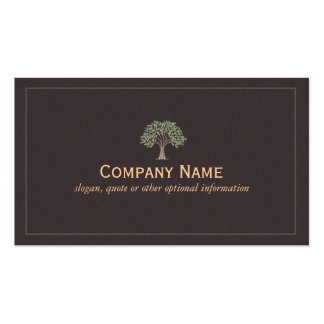 Classic Green Leaves Tree Pack Of Standard Business Cards