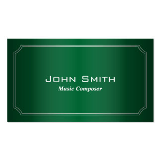 Classic Green Music Composer Business Card