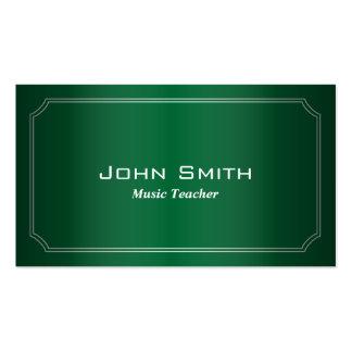Classic Green Music Teacher Business Card