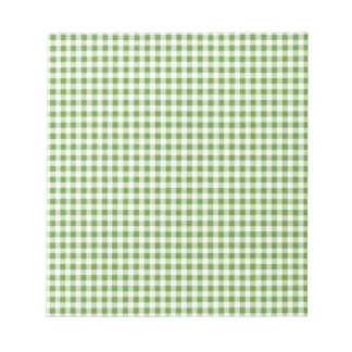 Classic Green Picnic Gingham Notepad