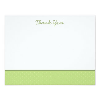 Classic Green Polka Dot Thank You Note Cards 11 Cm X 14 Cm Invitation Card