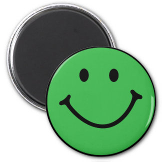 classic green smiley face fridge magnet