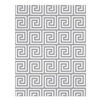 Classic Grey and White Greek Key Pattern Flyer Design