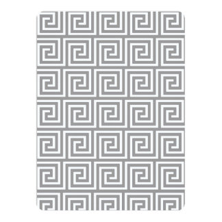 Classic Grey and White Greek Key Pattern Invitation
