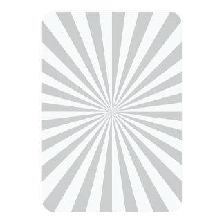 Classic Grey Burst Spinning Wheel Customize This! 9 Cm X 13 Cm Invitation Card