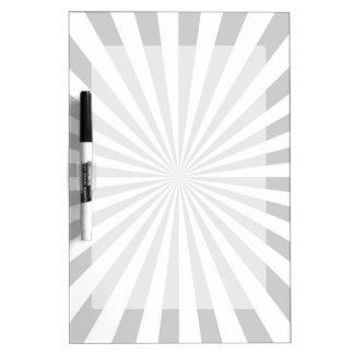 Classic Grey Burst Spinning Wheel Customize This! Dry Erase Board