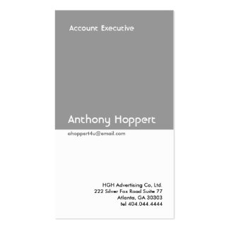 Classic Grey Divider Business Card 2