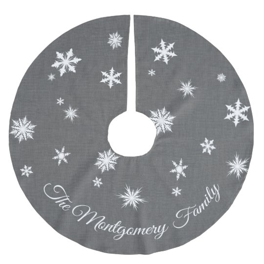 Classic Grey Personalised Tree Skirt