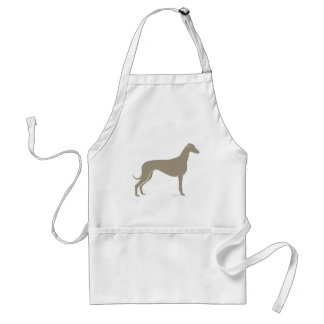Classic Greyhound Silhouette Standard Apron