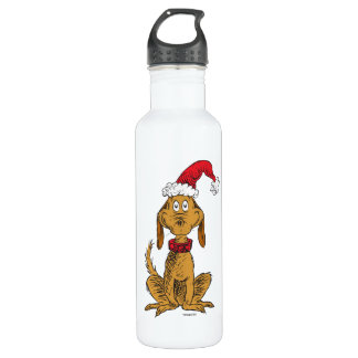 Classic Grinch | Max - Santa Hat 710 Ml Water Bottle