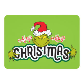 Classic Grinch | Merry Merry Christmas Card